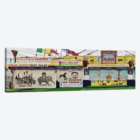 Old Store Front along Riegelmann Boardwalk, Long Island, Coney Island, New York City, New York State, USA Canvas Print #PIM10227} by Panoramic Images Art Print