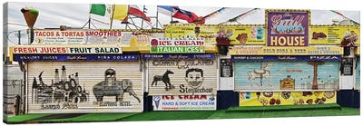 Old Store Front along Riegelmann Boardwalk, Long Island, Coney Island, New York City, New York State, USA Canvas Print #PIM10227