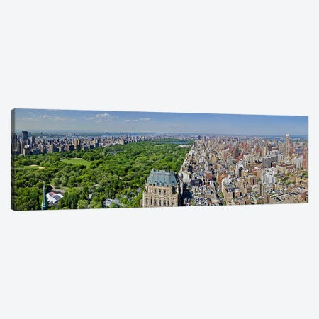 Aerial view of a city, Central Park, Manhattan, New York City, New York State, USA 2011 Canvas Print #PIM10230} by Panoramic Images Art Print
