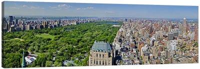 Aerial view of a city, Central Park, Manhattan, New York City, New York State, USA 2011 Canvas Print #PIM10230