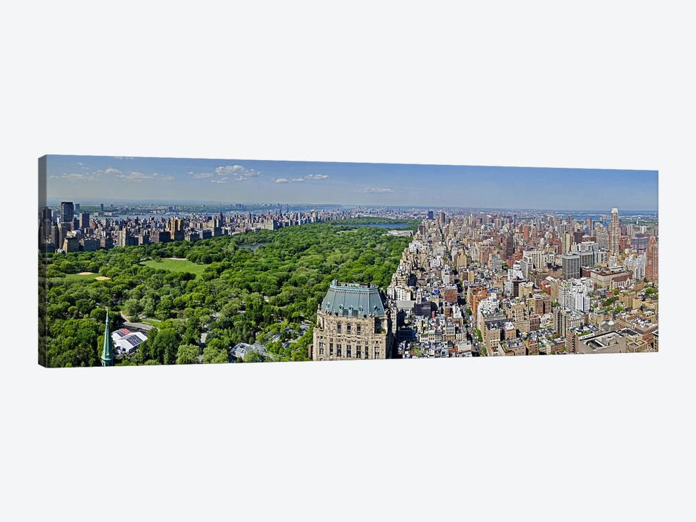 Aerial view of a city, Central Park, Manhattan, New York City, New York State, USA 2011 1-piece Canvas Wall Art