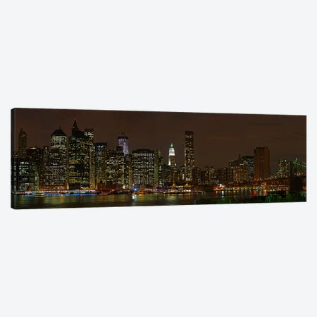 Skyscrapers at the waterfront, Lower Manhattan, Manhattan, New York City, New York State, USA 2011 Canvas Print #PIM10231} by Panoramic Images Art Print