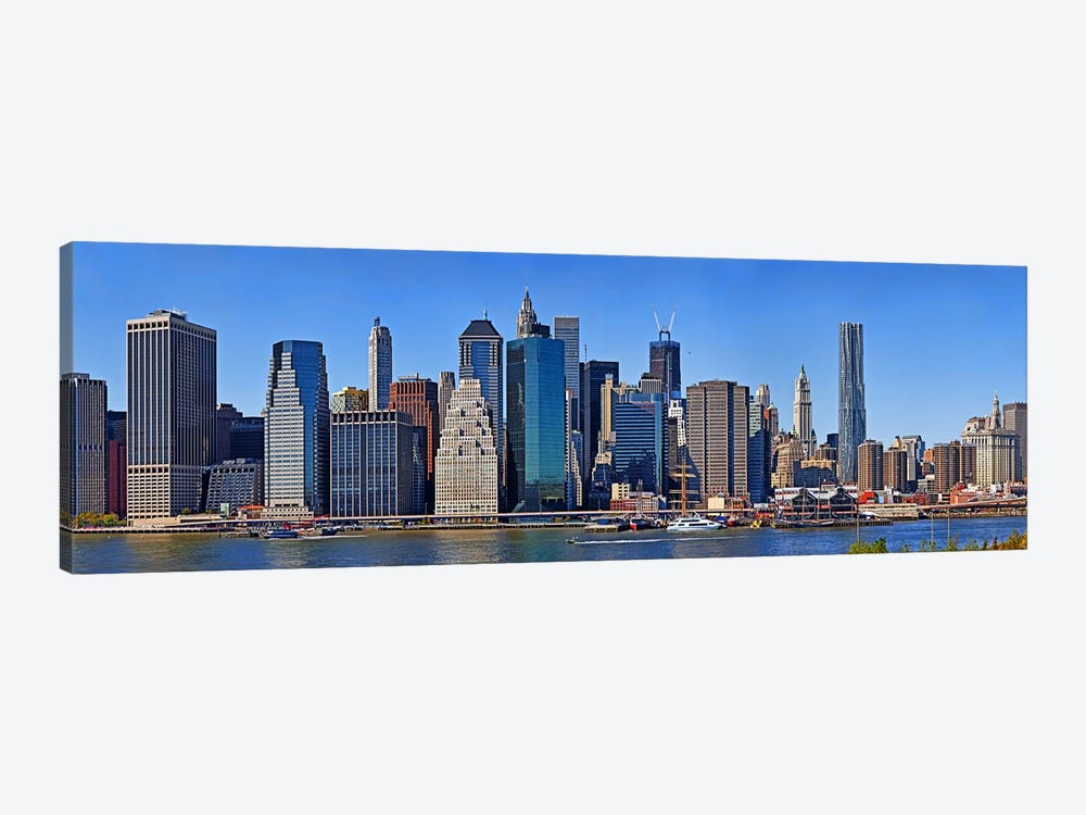 Skyscrapers at the waterfront, Lower Manhattan, Manhattan, New York City, New York State, USA 2011 by Panoramic Images 1-piece Canvas Artwork