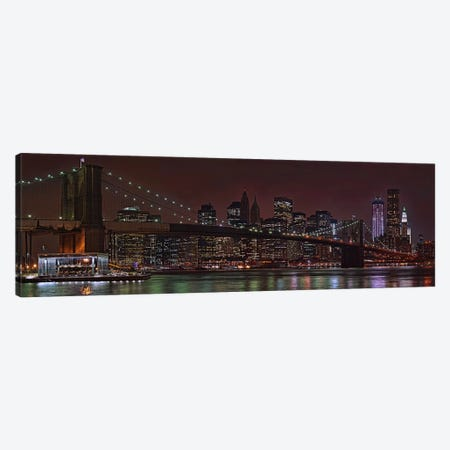 Jane's Carousel at the base of the bridge, Brooklyn Bridge, Manhattan, New York City, New York State, USA 2011 Canvas Print #PIM10233} by Panoramic Images Canvas Art Print