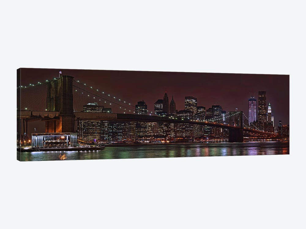 Jane's Carousel at the base of the bridge, Brooklyn Bridge, Manhattan, New York City, New York State, USA 2011 by Panoramic Images 1-piece Canvas Art Print