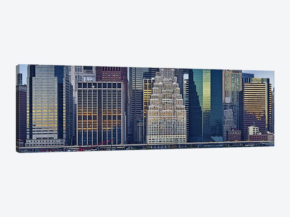 Skyscrapers in a city, New York City, New York State, USA 2011 by Panoramic Images 1-piece Canvas Art Print