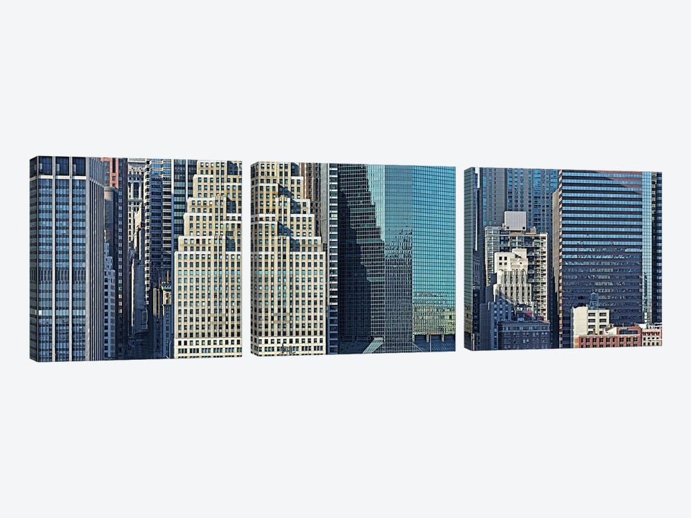 Skyscrapers in a city, New York City, New York State, USA 2011 #2 by Panoramic Images 3-piece Canvas Art Print