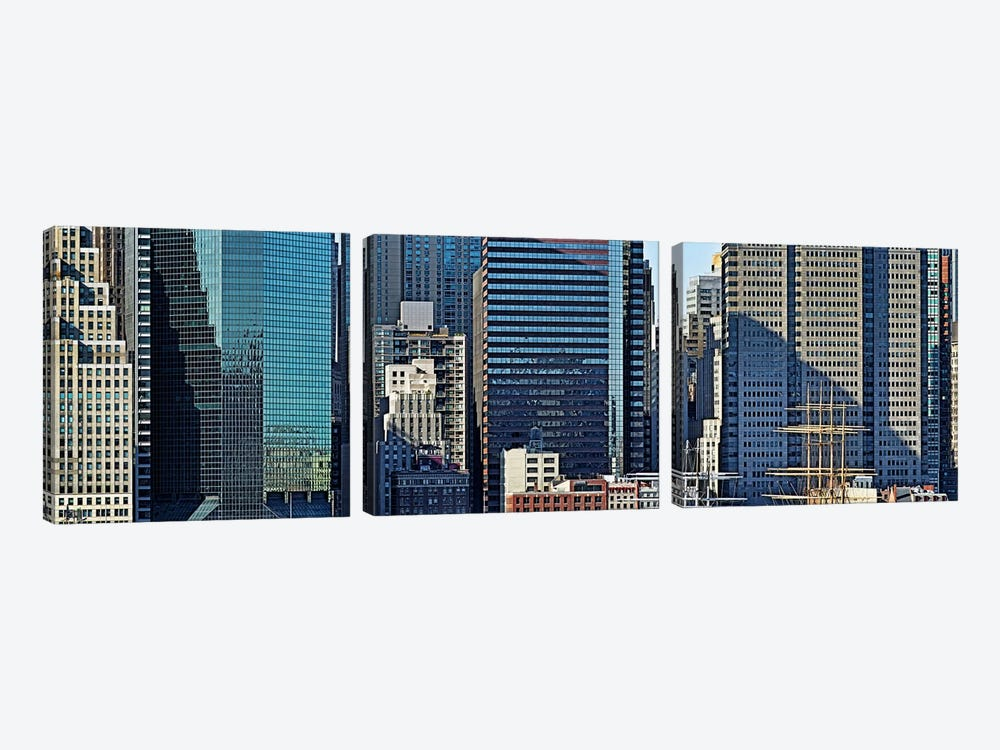 Skyscrapers in a city, New York City, New York State, USA 2011 #3 by Panoramic Images 3-piece Canvas Artwork