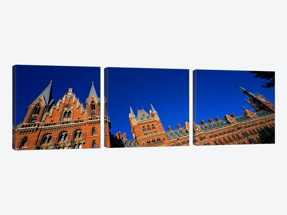 St Pancras Railway Station London England by Panoramic Images 3-piece Canvas Art Print
