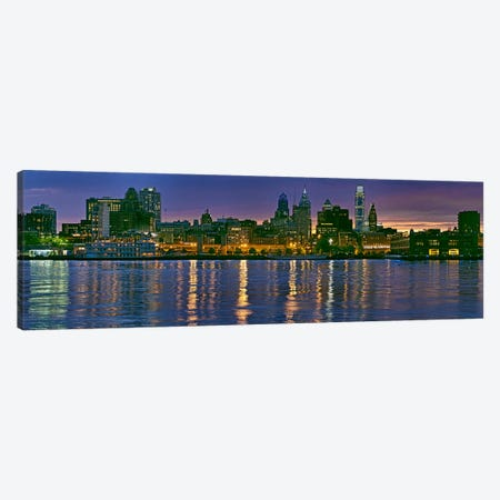 Buildings at the waterfront, River Delaware, Philadelphia, Pennsylvania, USA Canvas Print #PIM10242} by Panoramic Images Canvas Artwork