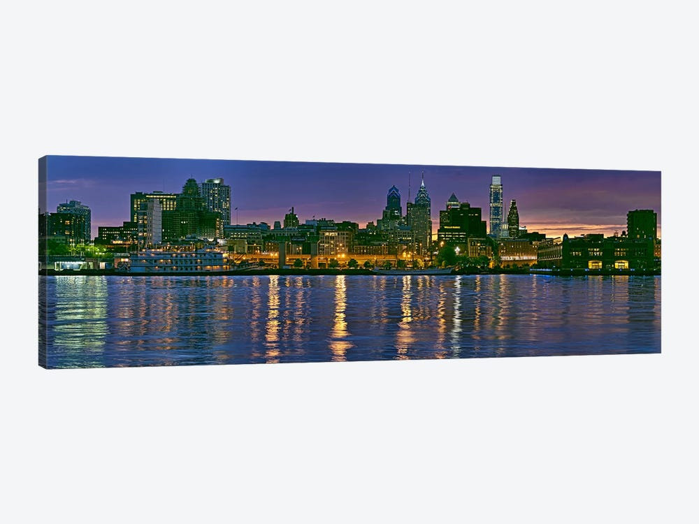 Buildings at the waterfront, River Delaware, Philadelphia, Pennsylvania, USA by Panoramic Images 1-piece Art Print