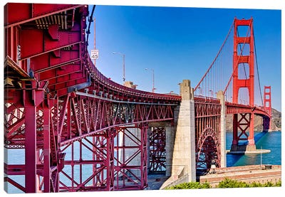 High dynamic range panorama showing structural supports for the bridge, Golden Gate Bridge, San Francisco, California, USA Canvas Print #PIM10243