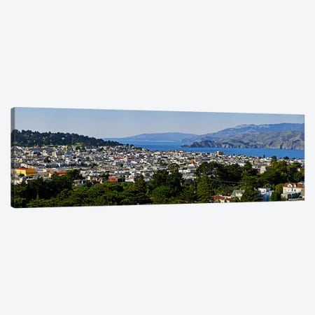 High angle view of a city, Richmond District, Lincoln Park, San Francisco, California, USA Canvas Print #PIM10244} by Panoramic Images Art Print