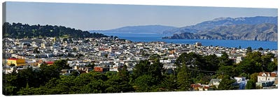 High angle view of a city, Richmond District, Lincoln Park, San Francisco, California, USA Canvas Print #PIM10244