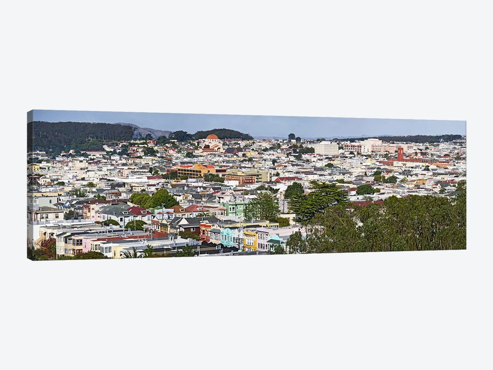 High angle view of colorful houses in a city, Richmond District, Laurel Heights, San Francisco, California, USA by Panoramic Images 1-piece Canvas Wall Art