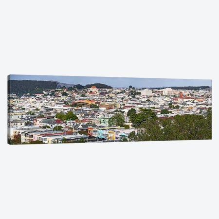 High angle view of colorful houses in a city, Richmond District, Laurel Heights, San Francisco, California, USA Canvas Print #PIM10247} by Panoramic Images Art Print