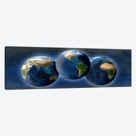 Three earths Canvas Print #PIM10249} by Panoramic Images Canvas Art