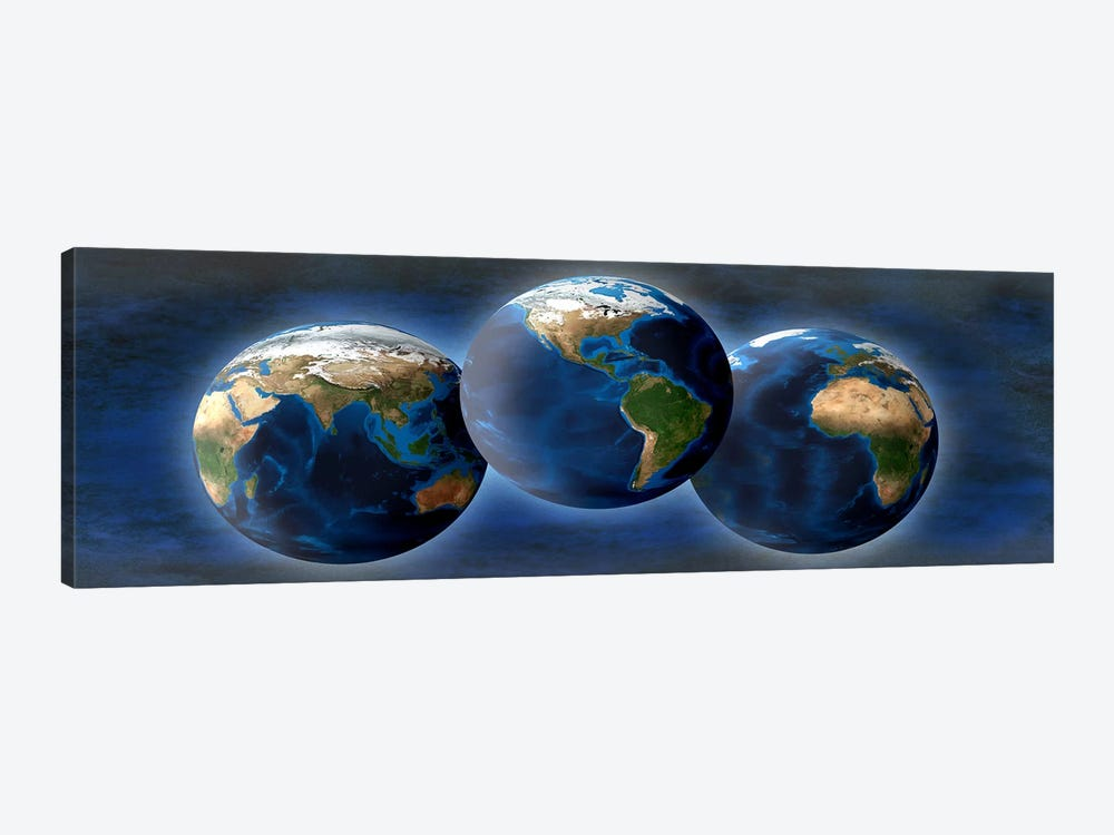 Three earths by Panoramic Images 1-piece Canvas Artwork