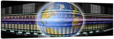 Earth in digital steam Canvas Print #PIM10251