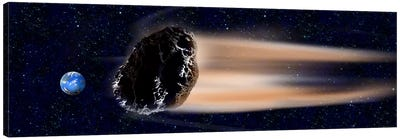 Meteor coming at earth Canvas Art Print