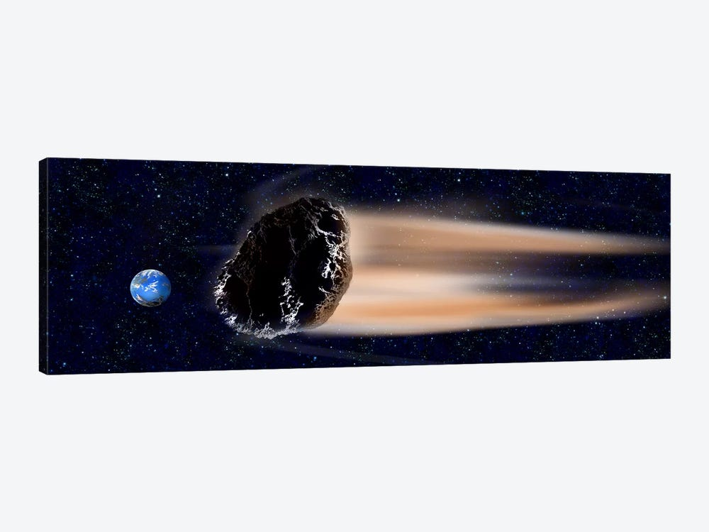 Meteor coming at earth 1-piece Canvas Art
