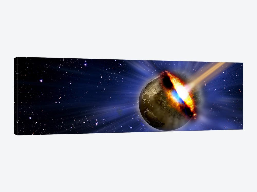 Comet hitting earth by Panoramic Images 1-piece Art Print