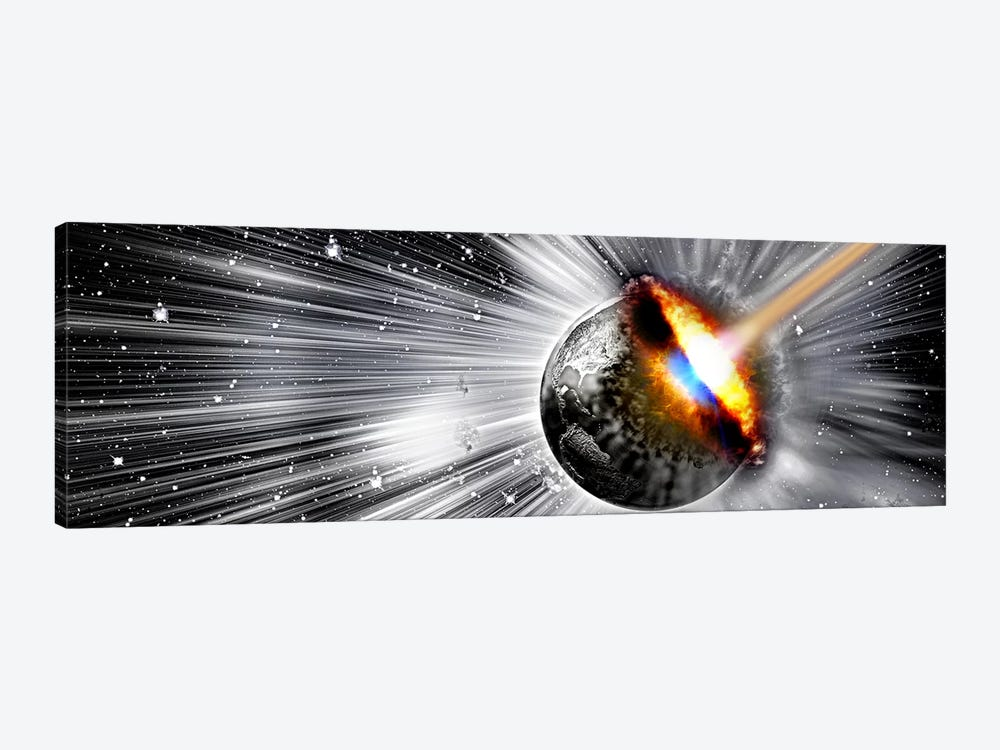 Earth hit by comet by Panoramic Images 1-piece Canvas Artwork