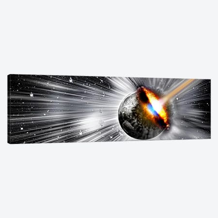 Earth hit by comet Canvas Print #PIM10258} by Panoramic Images Canvas Print