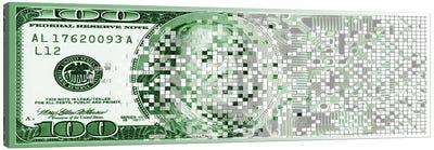 One Hundred Dollar Bill turning digital Canvas Print #PIM10259