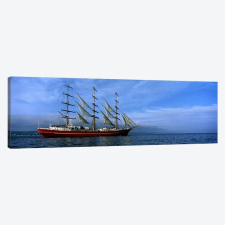 Tall ships race in the oceanBaie De Douarnenez, Finistere, Brittany, France Canvas Print #PIM10273} by Panoramic Images Canvas Print