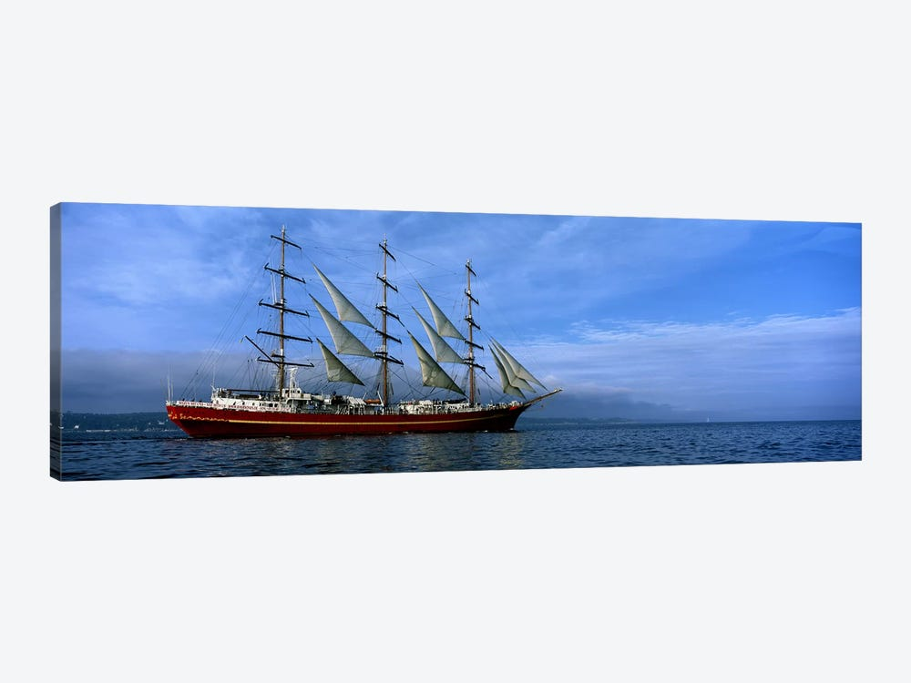 Tall ships race in the oceanBaie De Douarnenez, Finistere, Brittany, France by Panoramic Images 1-piece Canvas Print