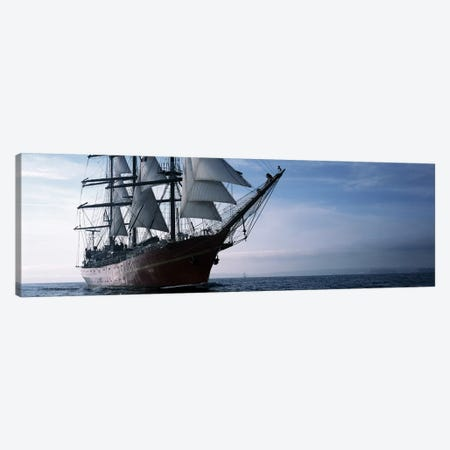 Tall ships race in the ocean, Baie De Douarnenez, Finistere, Brittany, France Canvas Print #PIM10274} by Panoramic Images Canvas Wall Art