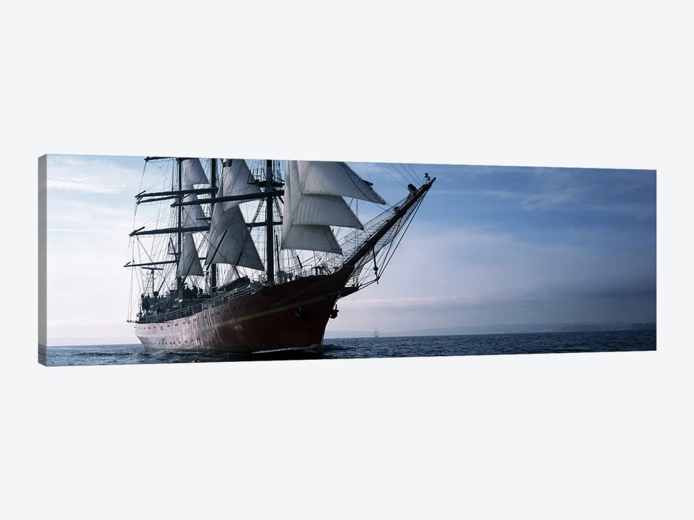 Tall ships race in the ocean, Baie De Douarnenez, Finistere, Brittany, France by Panoramic Images 1-piece Canvas Art