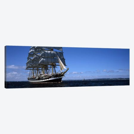 Tall ships race in the ocean, Baie De Douarnenez, Finistere, Brittany, France #2 Canvas Print #PIM10276} by Panoramic Images Canvas Artwork