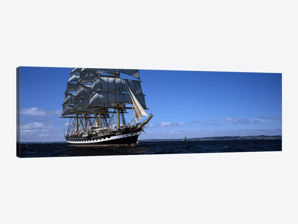 Tall ships race in the ocean, Baie De Douarnenez, Finistere, Brittany, France #2 by Panoramic Images 1-piece Canvas Art