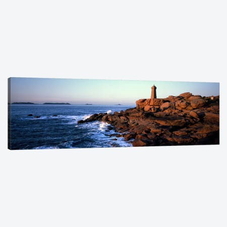 Ploumanac'h (Mean Ruz) Lighthouse, Perros-Guirec, Cote de Granit Rose, Cotes-d'Armor, Brittany, France Canvas Print #PIM10277} by Panoramic Images Canvas Art