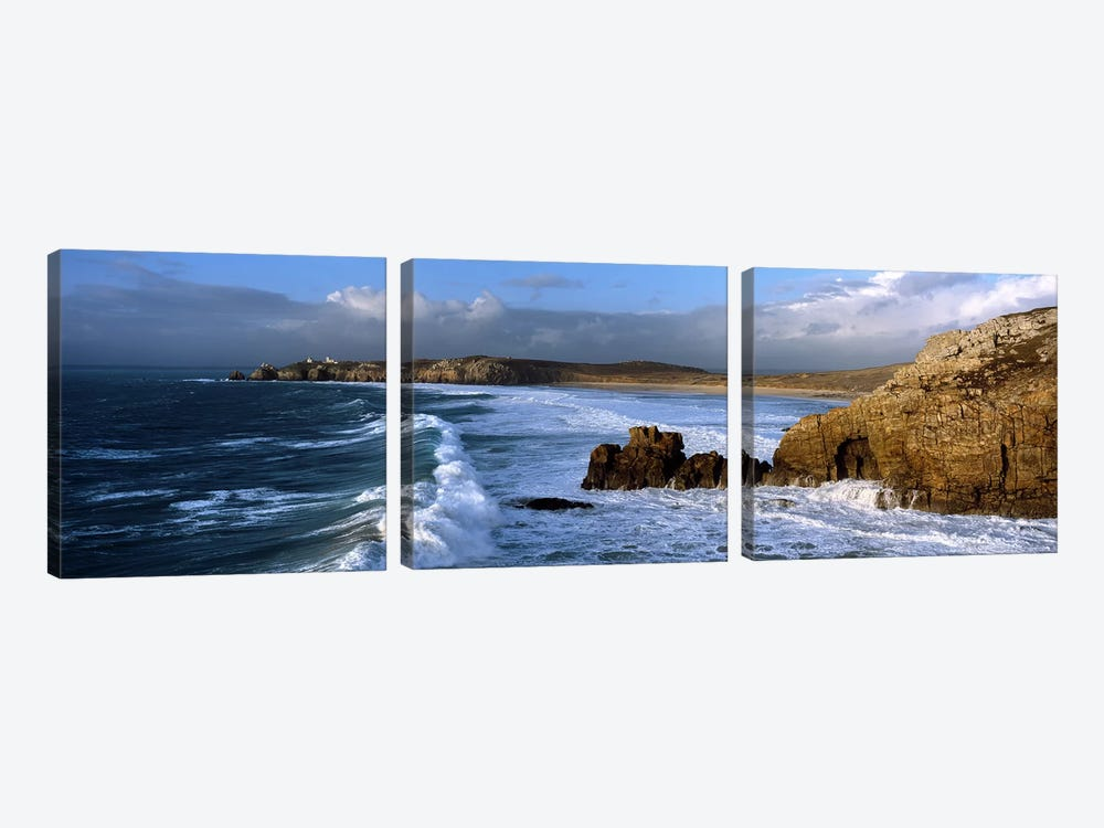 Crozon Peninsula, Finistere, Brittany, France by Panoramic Images 3-piece Canvas Wall Art