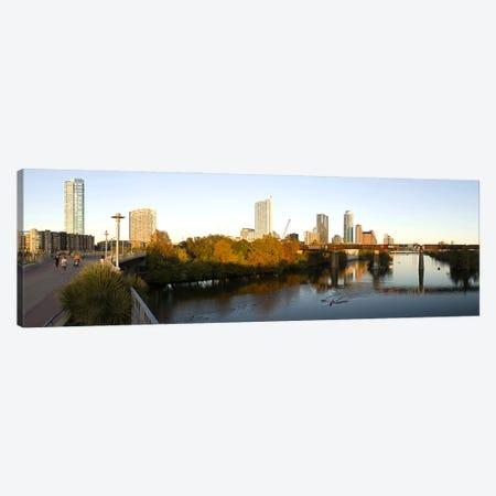 Skyscrapers in a city, Lamar Street Pedestrian Bridge, Austin, Texas, USA Canvas Print #PIM10282} by Panoramic Images Canvas Art