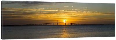 Sunrise over Sunshine Skyway Bridge, Tampa Bay, Florida, USA Canvas Art Print