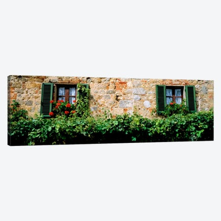 Shuttered Windows, Monteriggioni, Tuscany, Italy Canvas Print #PIM1028} by Panoramic Images Canvas Art Print