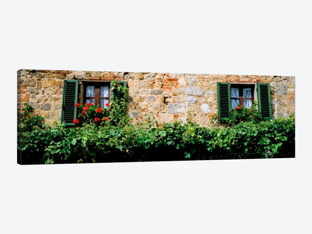 Shuttered Windows, Monteriggioni, Tuscany, Italy by Panoramic Images 1-piece Canvas Art