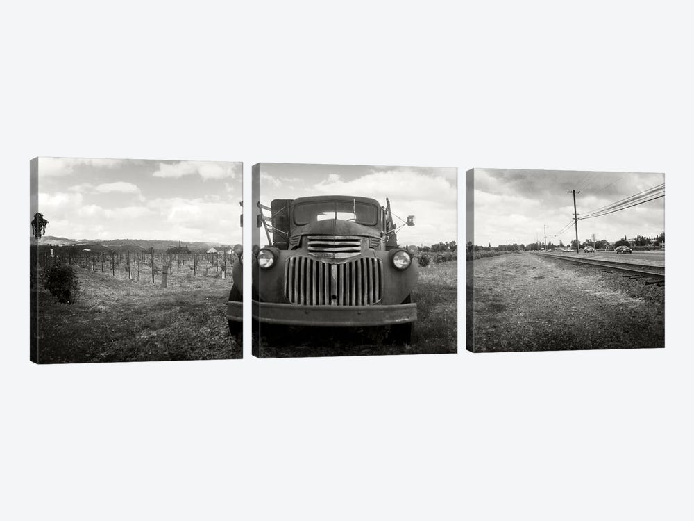 Old Vineyard Truck, Napa Valley, California, USA by Panoramic Images 3-piece Canvas Print