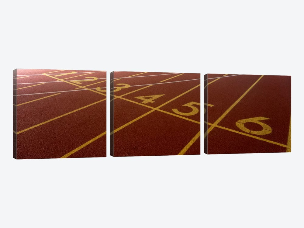 Track, Starting Line by Panoramic Images 3-piece Canvas Print
