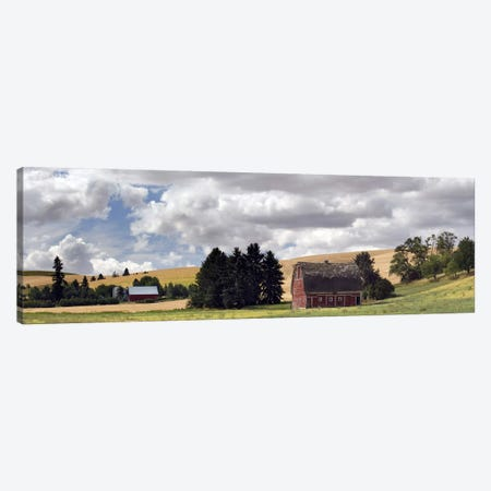 Old barn under cloudy sky, Palouse, Washington State, USA Canvas Print #PIM10315} by Panoramic Images Art Print
