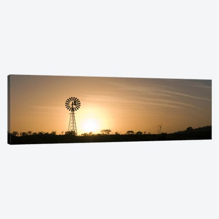 Windmill at sunrise Canvas Print #PIM10318} by Panoramic Images Canvas Artwork