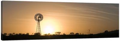 Windmill at sunrise Canvas Print #PIM10318