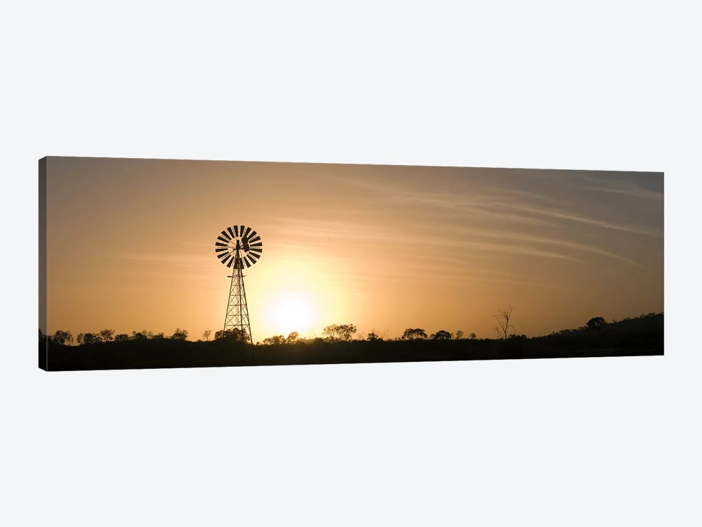 Windmill at sunrise by Panoramic Images 1-piece Canvas Art Print