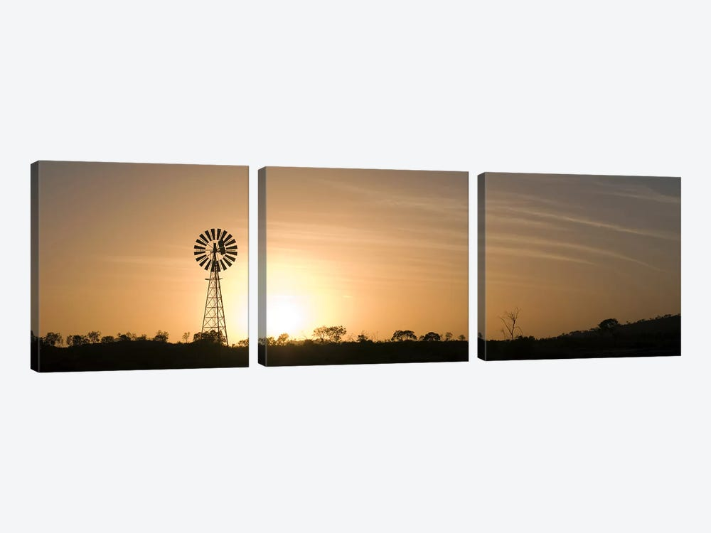 Windmill at sunrise by Panoramic Images 3-piece Canvas Art Print
