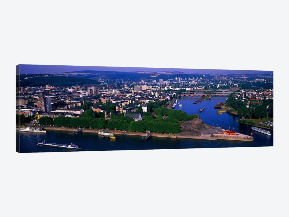Rhine River Mosel River Koblenz Germany by Panoramic Images 1-piece Canvas Art
