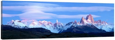 Cloudy Mountain Landscape, Fitz Roy-Torre Group, Andes, Southern Patagonian Ice Field Canvas Art Print